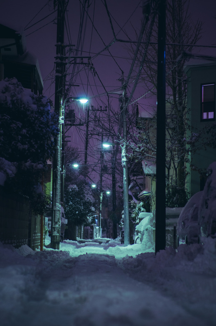 Ночью в Японии