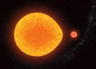 Открыта первая «однобокая» пульсирующая звезда Наука, Новости, Астрономия, Космос, Звёзды, Гифка