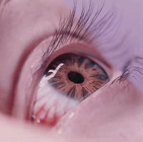 С глаз долой - (из сердца) с глазницы вон! Глазницы, 3D, Гифка, Паук, Крипота, Глаза