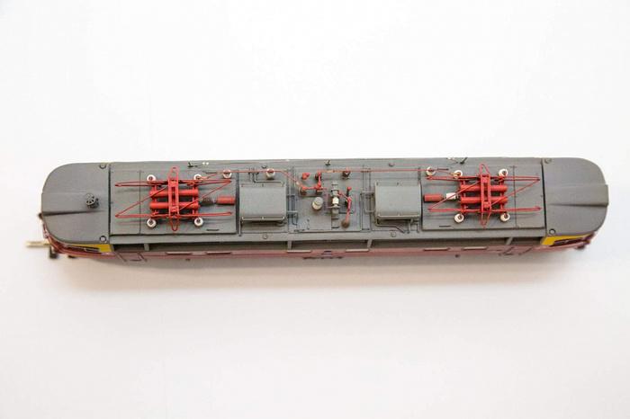 Действующая модель электровоза чс4 в масштабе 187