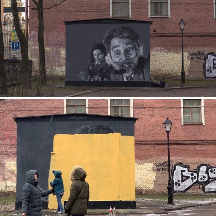 Граффити с героями quotКрутого Пикеquot в Петербурге закрасили