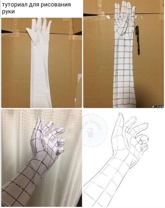 Небольшая хитрость для того, чтобы научиться рисовать руку