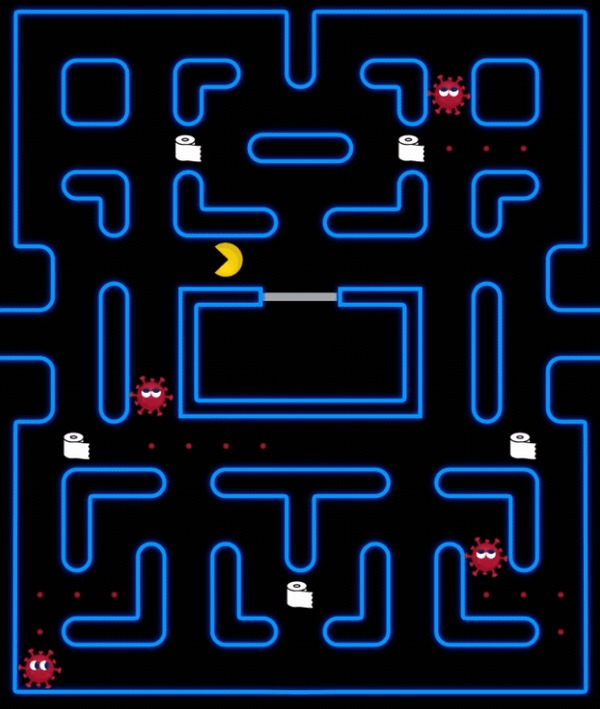 Retro Covid-19 Коронавирус, Pixel Art, Ретро, Олдскул, Игры, Adobe After Effects, Pac-Man, Марио, Гифка, Длиннопост