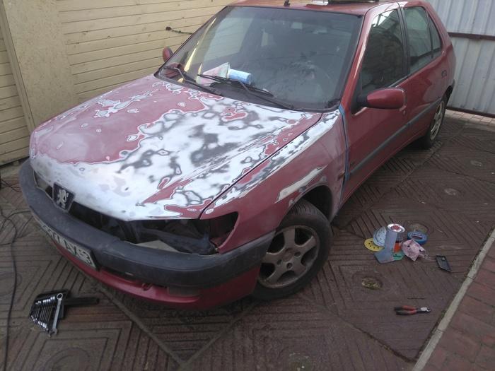Как я покрасил свою машину Длиннопост, Машина, Авто, Покраска, Своими руками