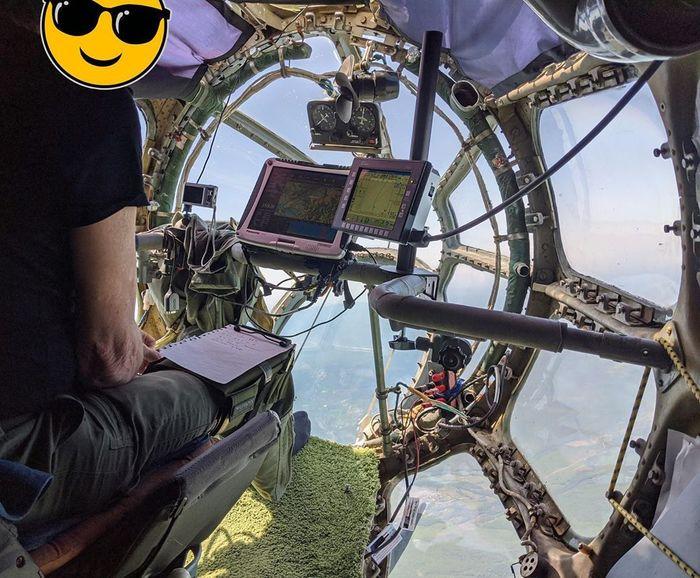 Место штурмана на самолете АН-30Д