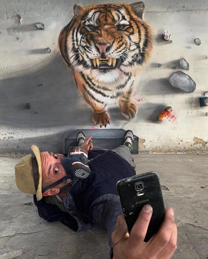 Граффити одного художника