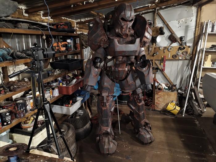 Собрано! Игры, Fallout 4, Fallout, Косплей, Своими руками, t-60, Силовая Броня, Видео, Длиннопост