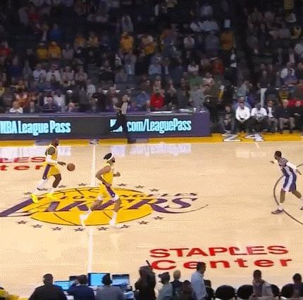 Как ты это делаешь? Спорт, Баскетбол, NBA, Lebron James, Трехочковый, Гифка, Los Angeles Lakers