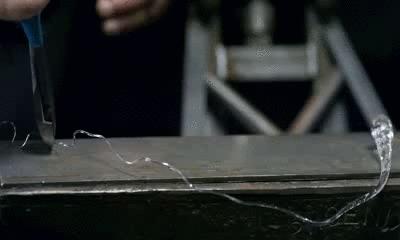Взрыв батавской слезы Капля принца Руперта, Сопромат, Физика, Гифка, Разрушители мифов, Стекло, Закаленное стекло