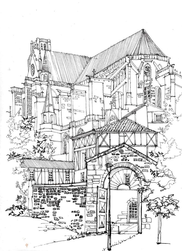 Собор, зарисовка