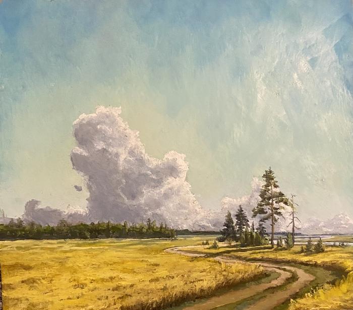 Облака и рожь