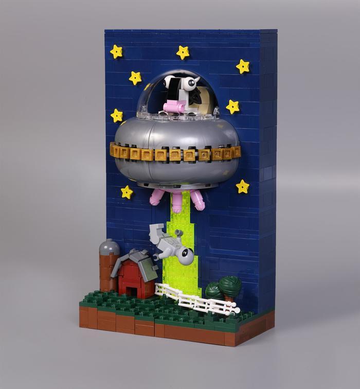 """Классная диорама из Lego """"Ночное похищение: Месть рогатых"""""""