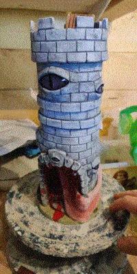Башня-мимик для костей Dungeons & Dragons, Настольные ролевые игры, Настольные игры, Pathfinder, Dice tower, Гифка