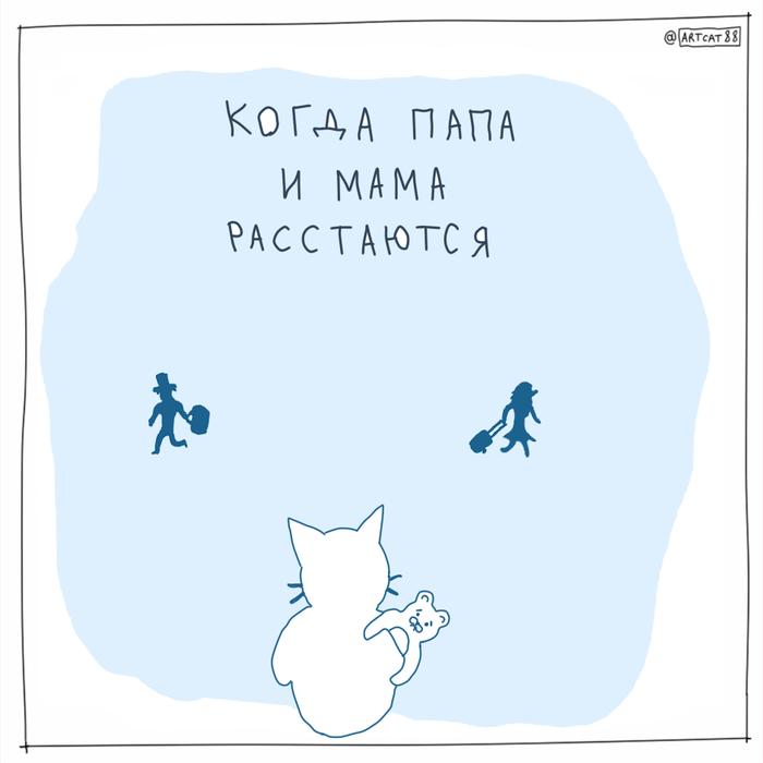 Комикс quotКогда папа и мама расстаютсяquot