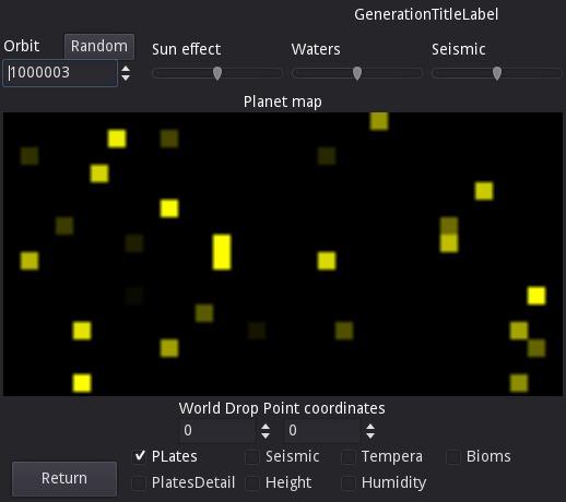 Генератор землеподобных планет на Godot Gamedev, Godot Engine, Гифка, Длиннопост