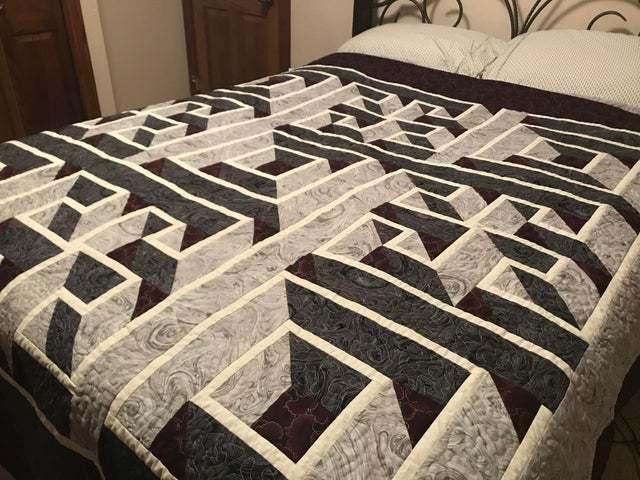 Лабиринтное одеяло от бабушки