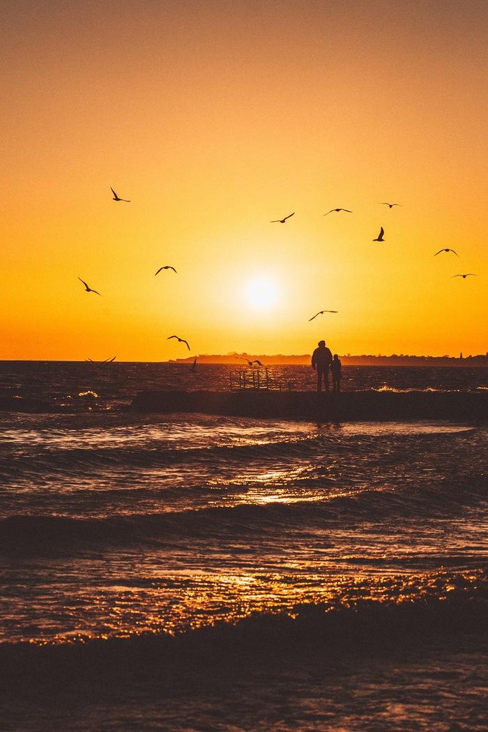 Закат на берегу Таганрогского залива
