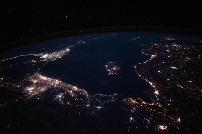 Средиземное море с МКС