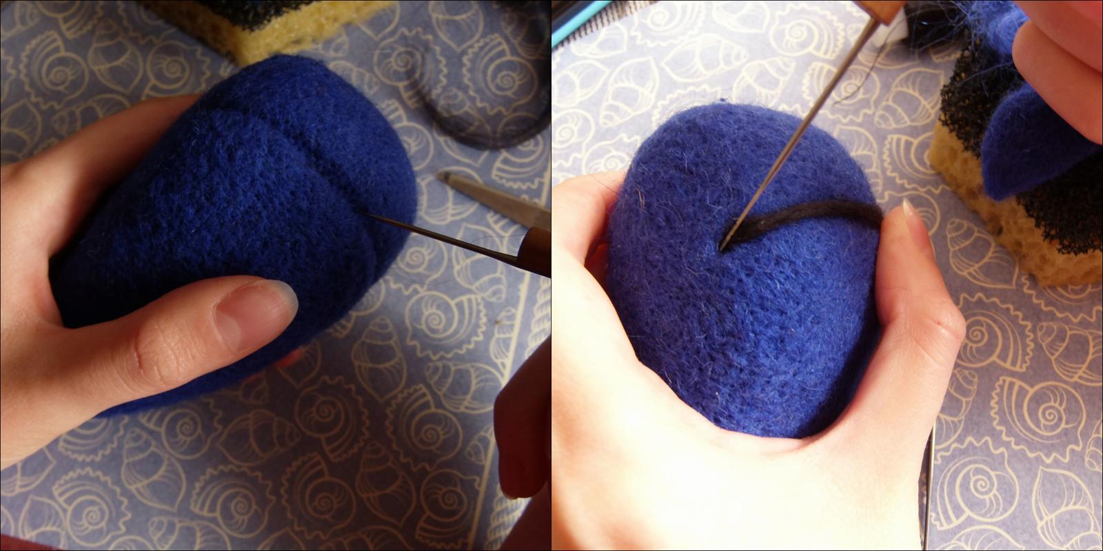 Как сделать гладкость при валянии шерстью
