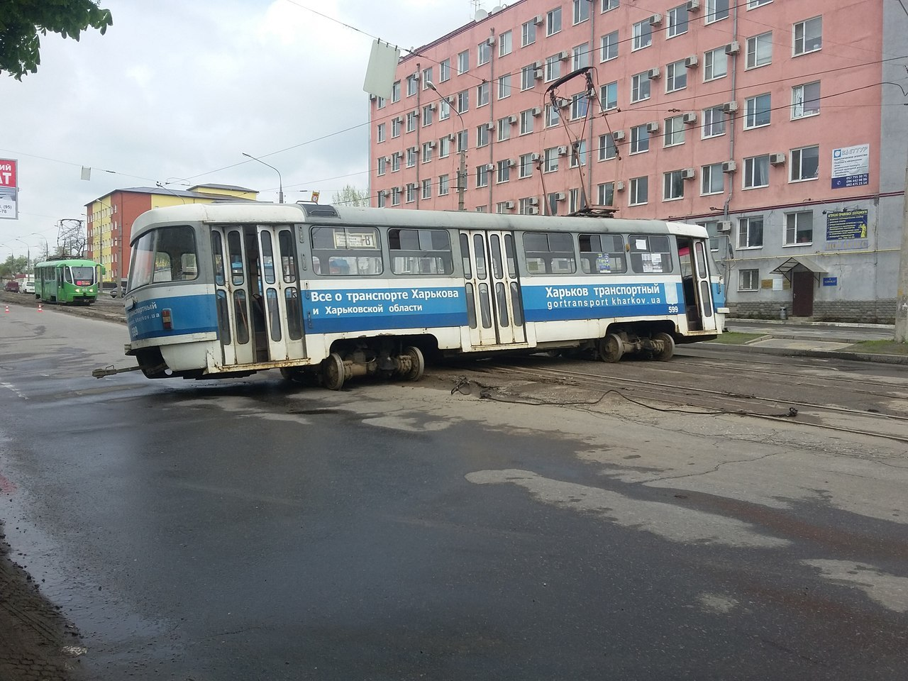 Харьков — столица трамвайного дрифта | Пикабу