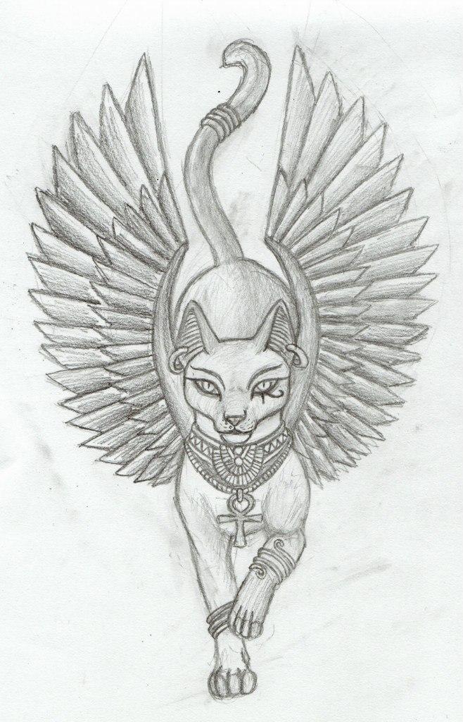 Эскизы и фото египетских татуировок