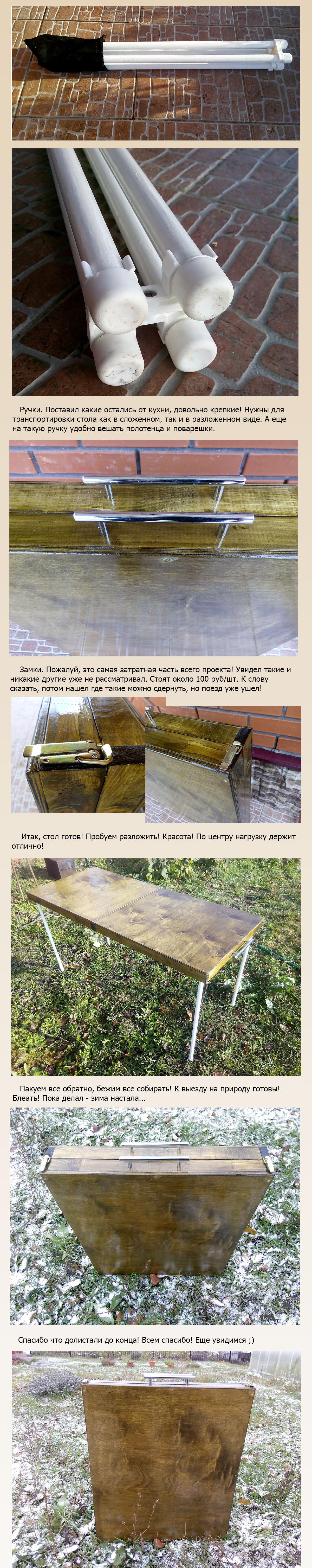 Как сделать походный стол фото 667