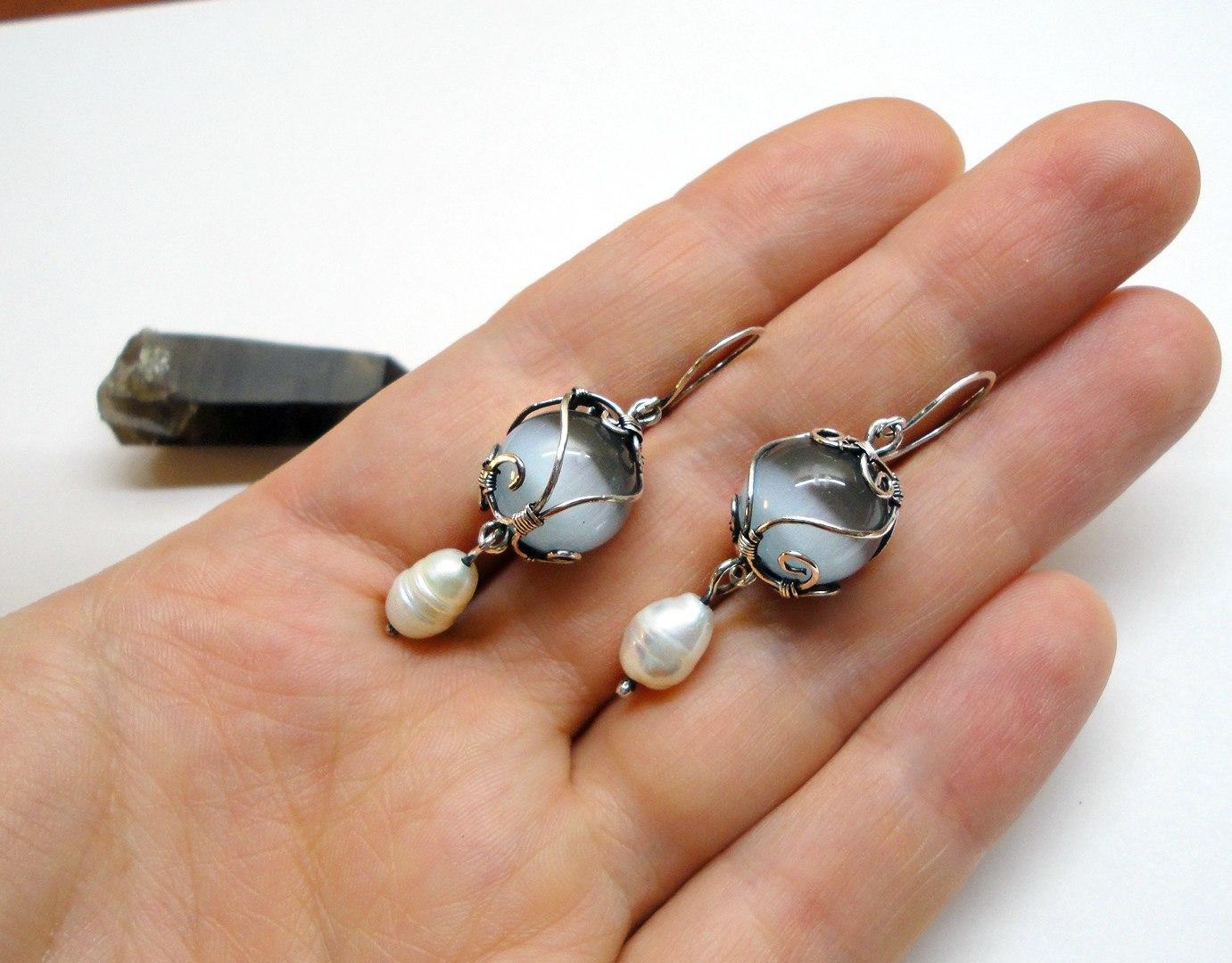 Серьги из натуральных камней своими руками фото 361