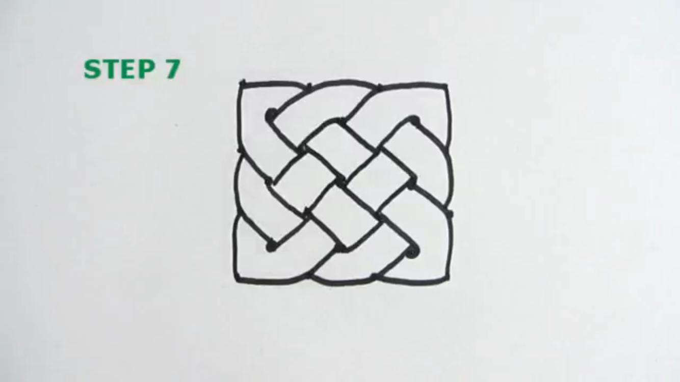 как нарисовать кельтский узел
