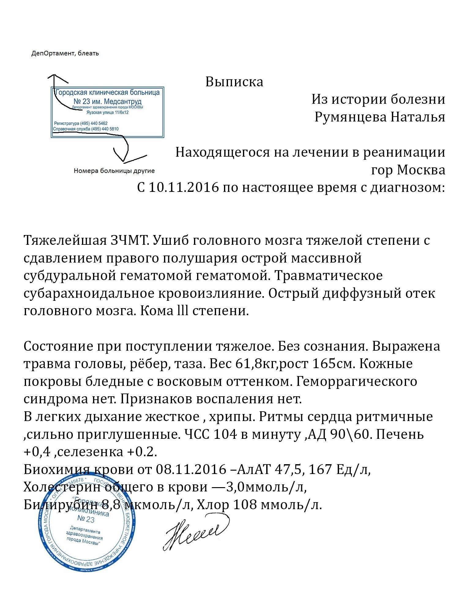 Выписной эпикриз Яхромская улица купить больничный лист в петербурге
