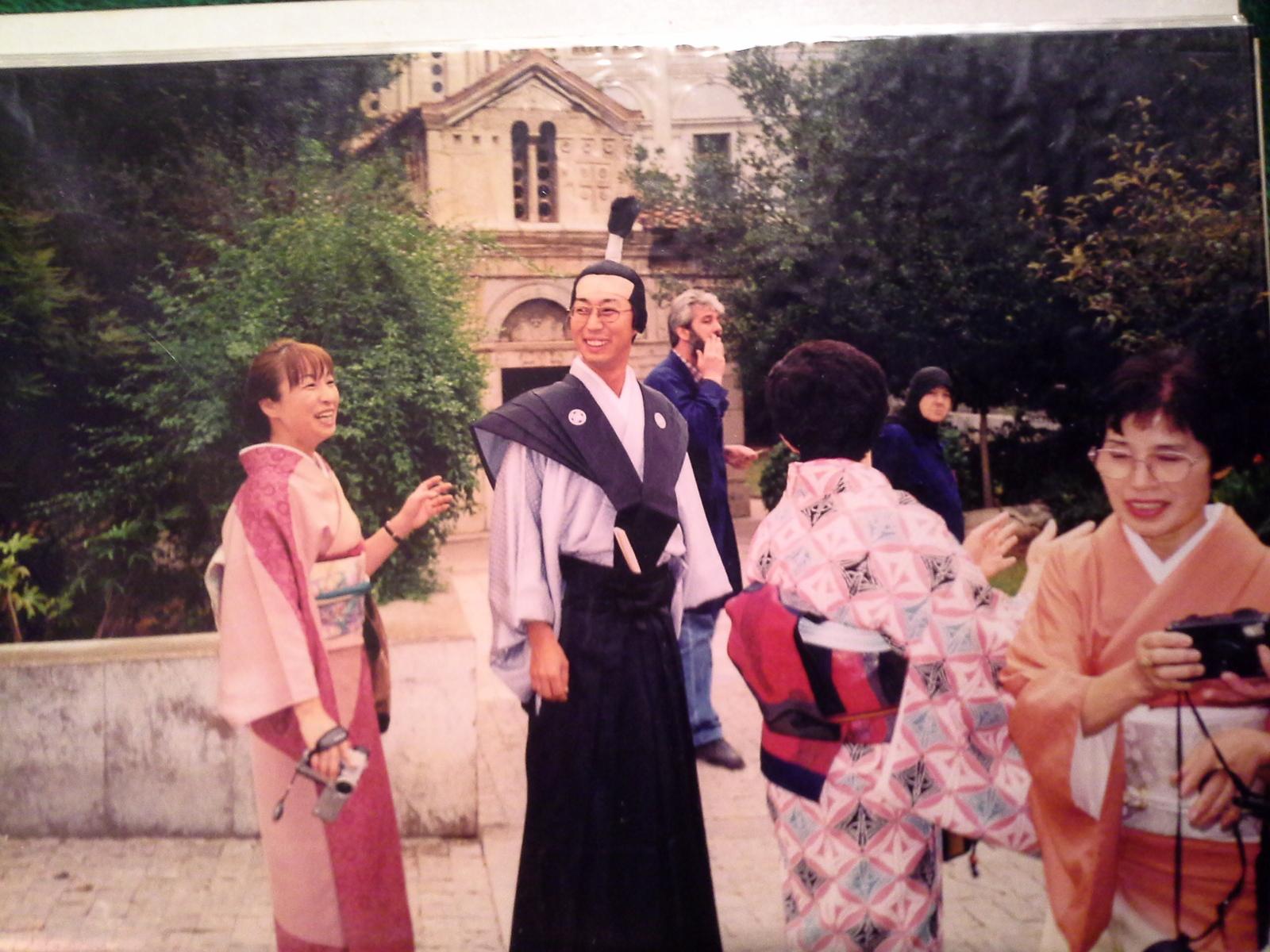 647acfb683a Японская группа в Афинах.2000год.Только национальная одежда!