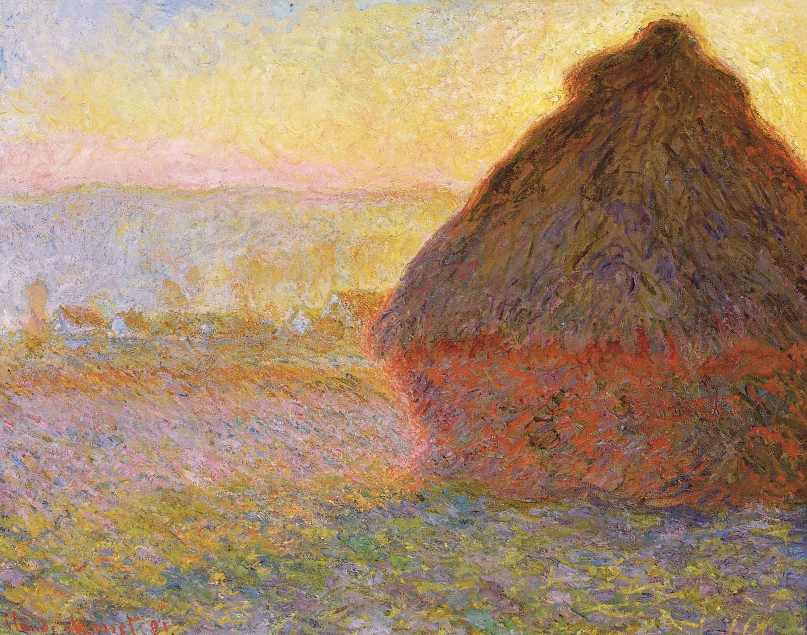 Обои Клод Моне, Пейзаж, картина, Сена возле Ветей. Бурная Погода. Разное foto 10