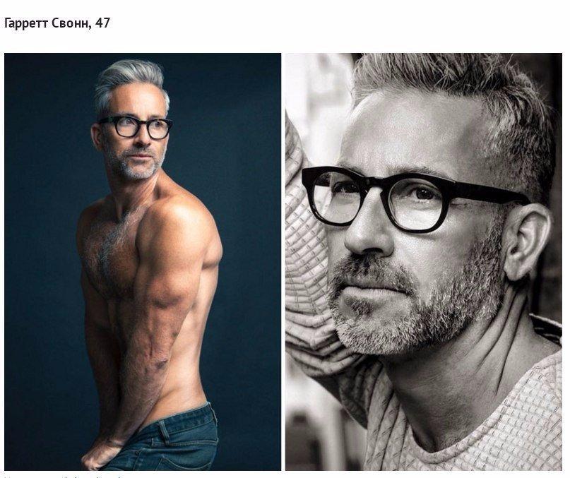 Мускулистый гей в возрасте