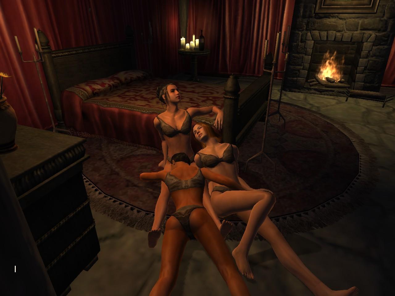Секс в обливионе наконец то