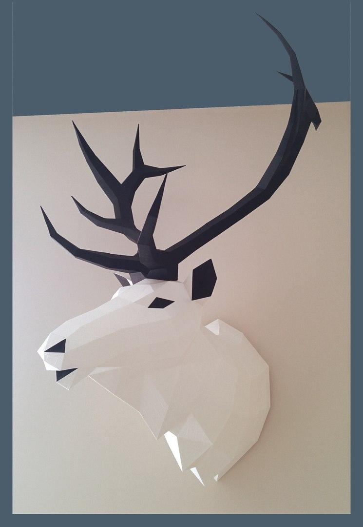 Как сделать паперкрафт олень