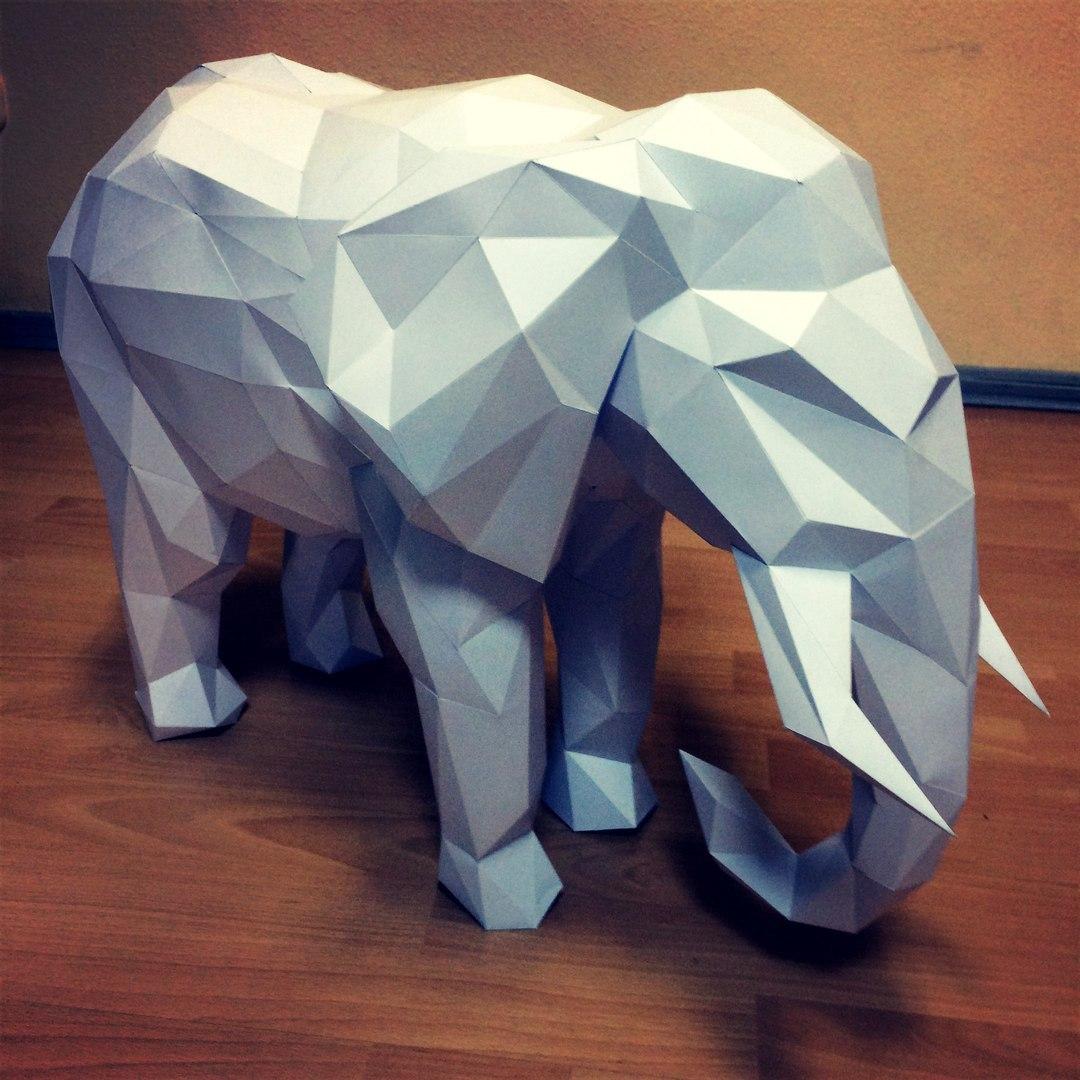 Как сделать слона из бумаги своими руками