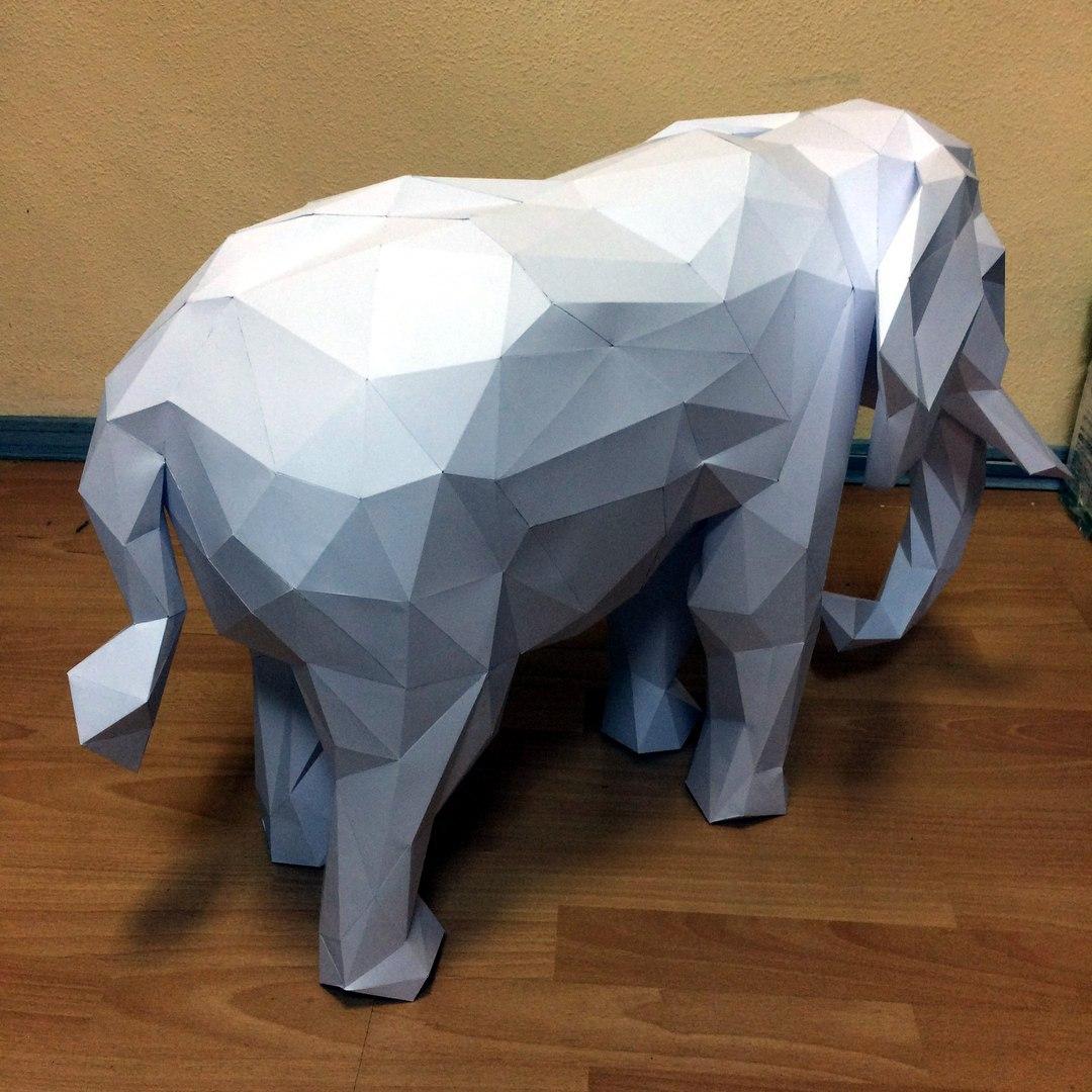 Как сделать слона из бумаги своими руками фото 332