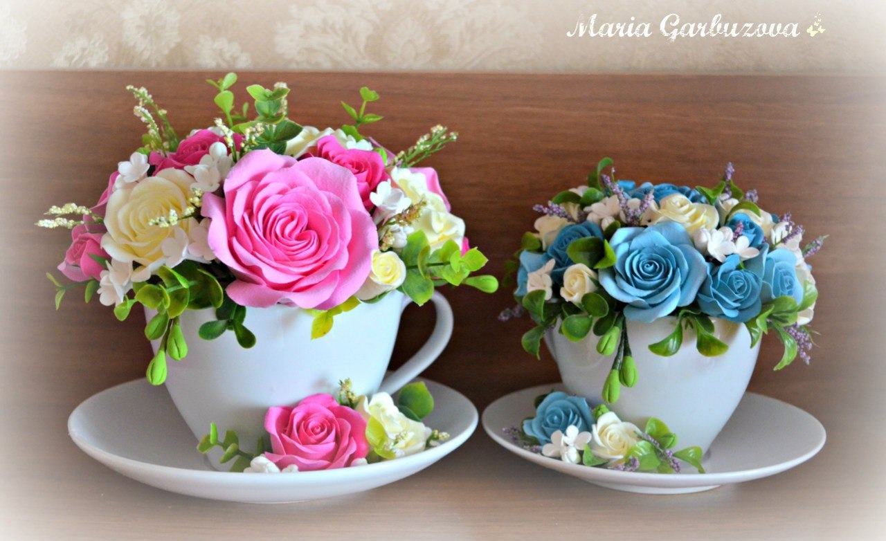 Мастер-классы по лепке цветов из полимерной глины 39