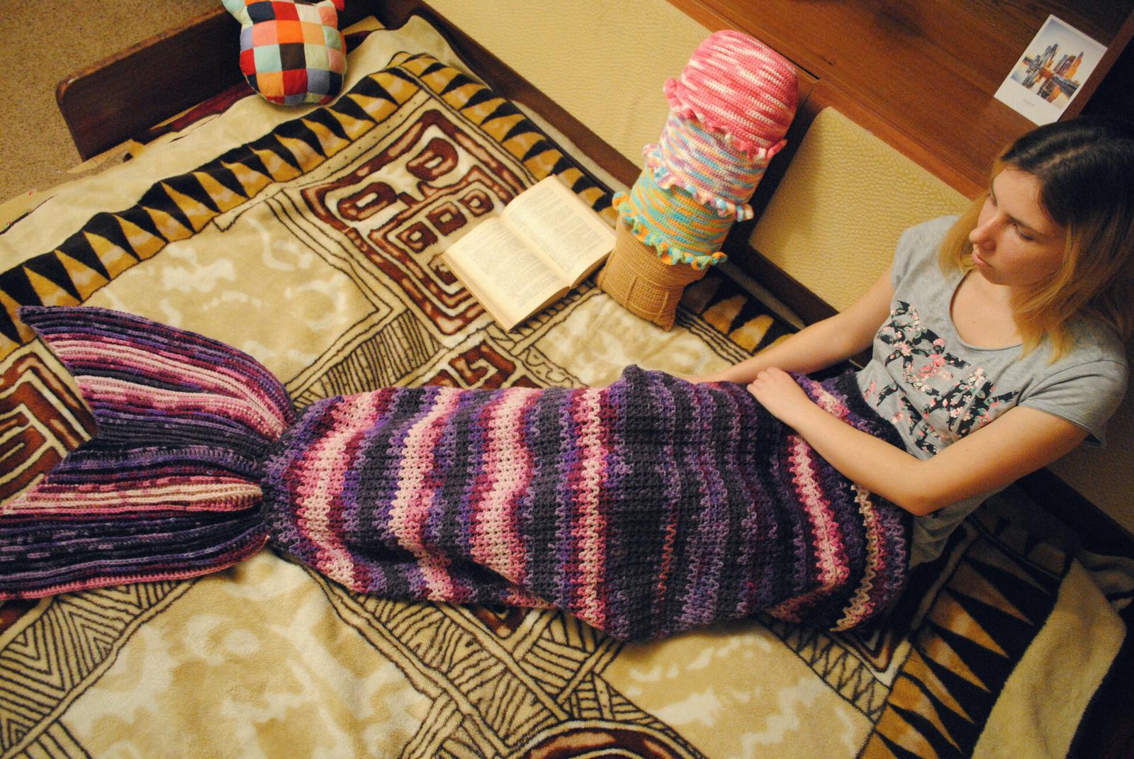 Плед хвост русалки схема вязания фото 279
