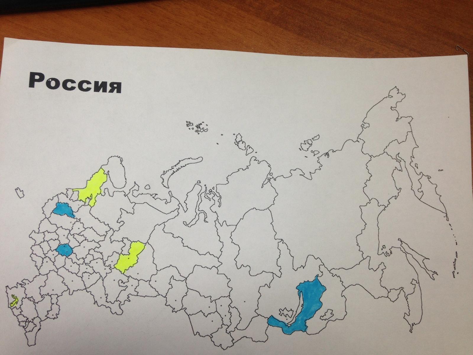карта раскраска