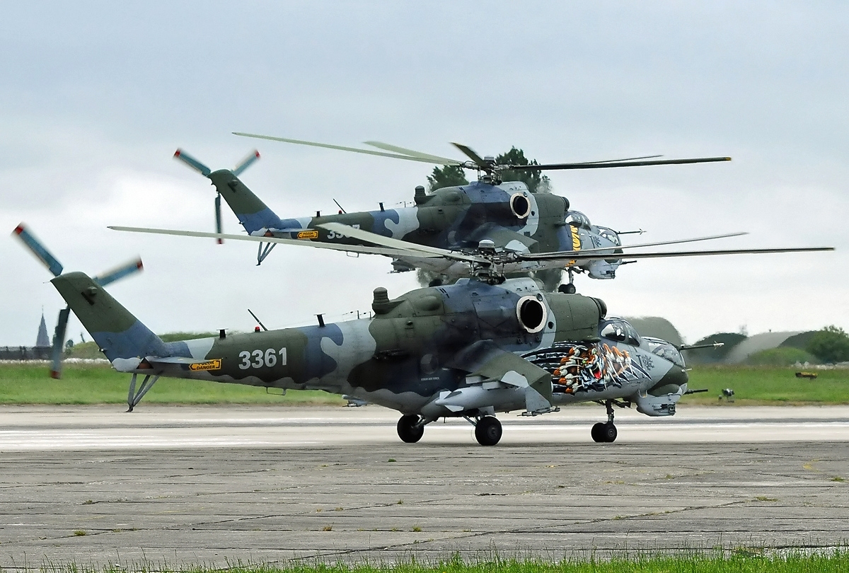 Обои ГШ-30К, ВВС Нигерии, Модернизированный вариант Ми-24, Ми-35П, Ударный вертолёт, экспортный вариант Ми-24П. Авиация foto 18