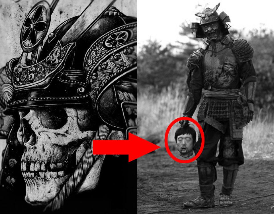 Картинки по запросу самурай рисунок