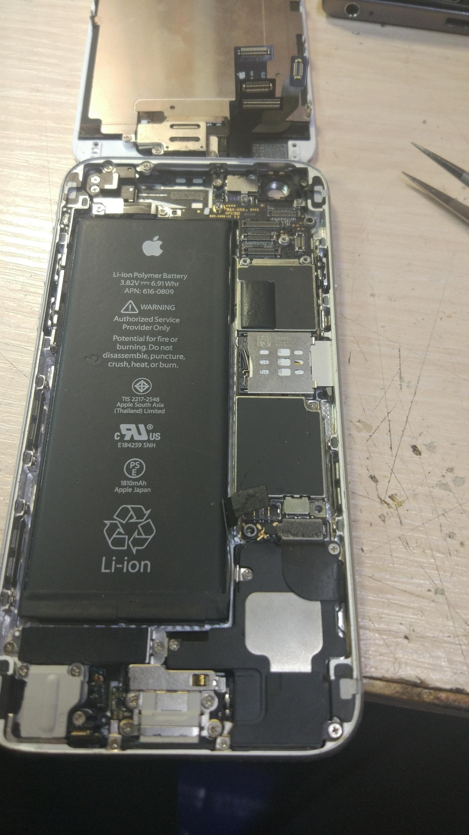 ремонт камеры на айфоне 6s