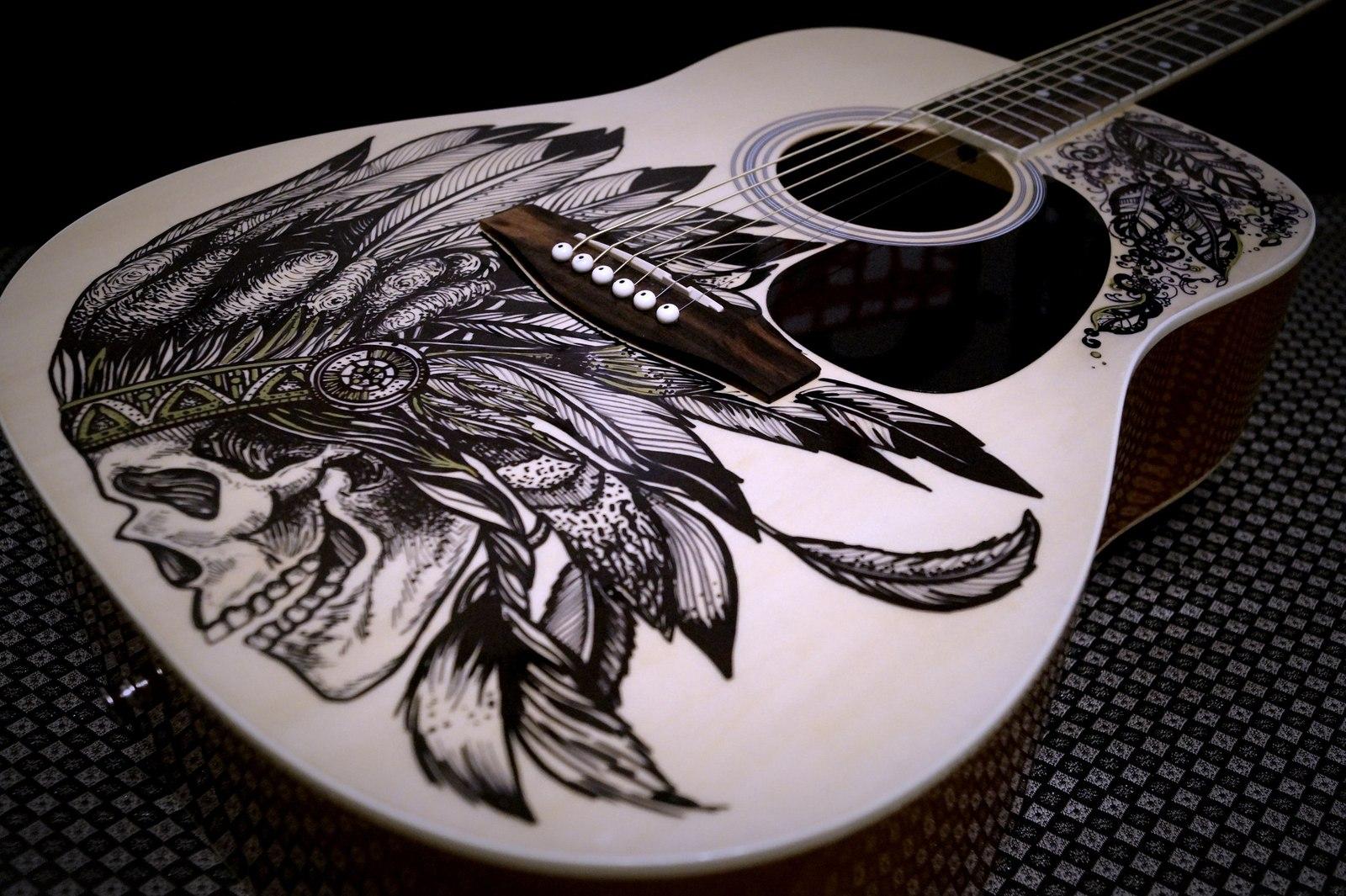 фото рисунки на гитаре