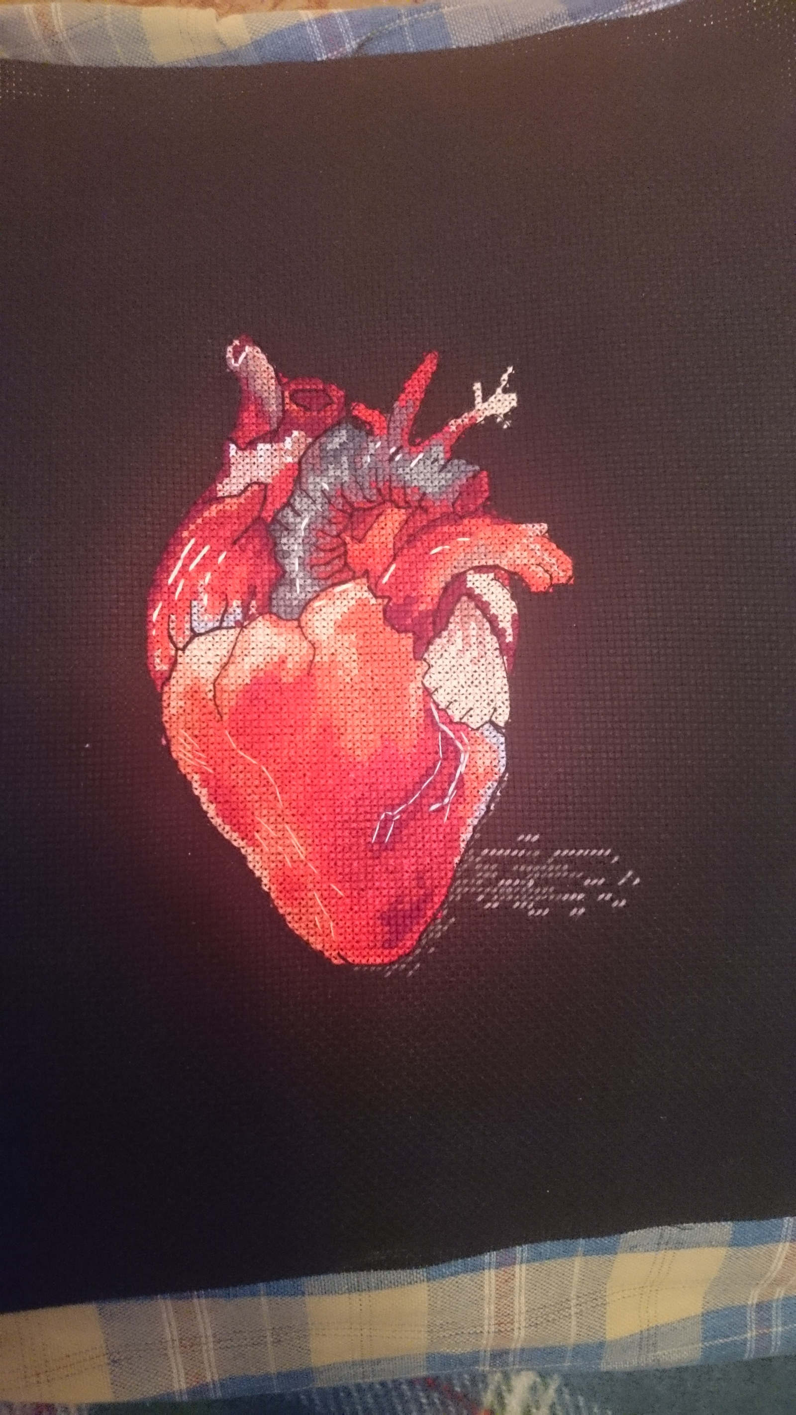 Вышивка сердца своими руками