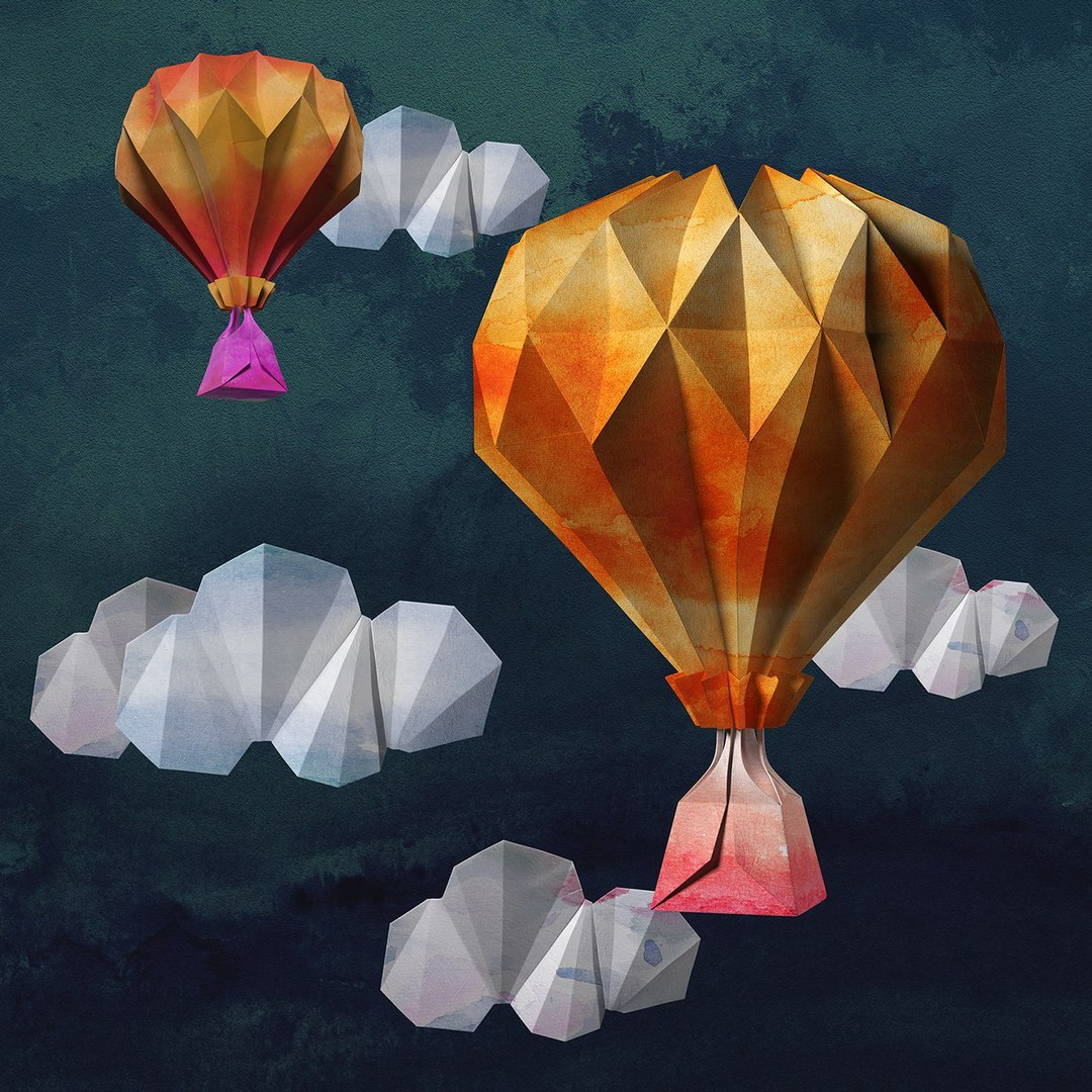 Оригами как сделать воздушный шар фото 837