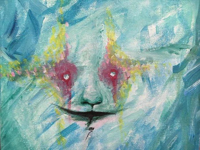 Автопортрет художницы-шизофреника Кейт