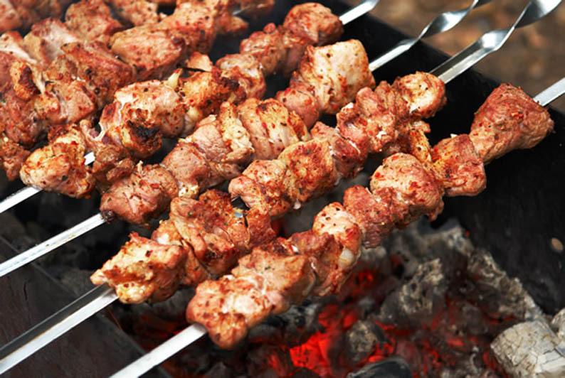 шашлык из свинины рецепты маринада на ночь