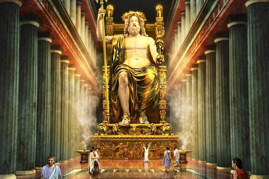 Картинки по запросу Статуя Зевса Олимпийского