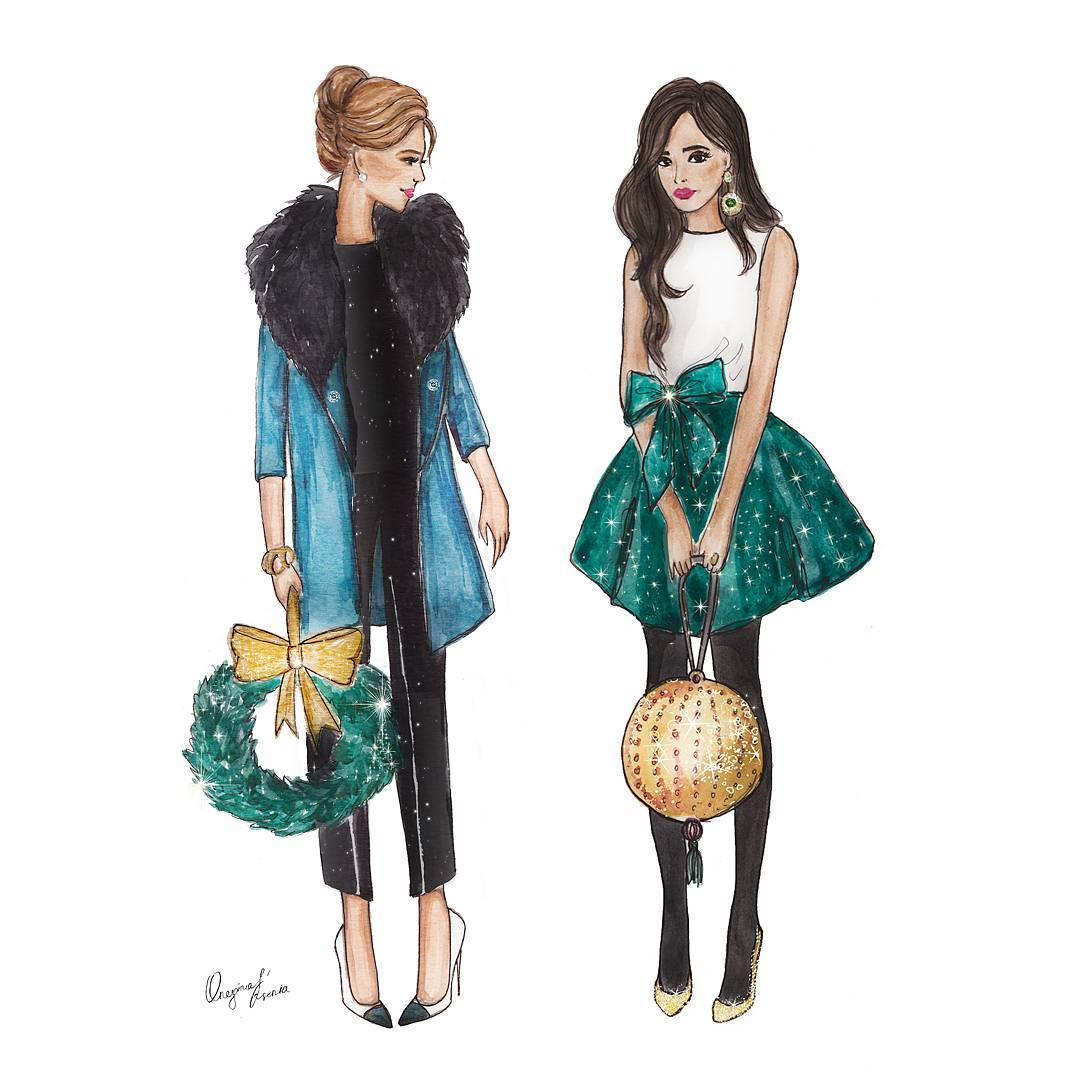 Картинки с девушками нарисованные