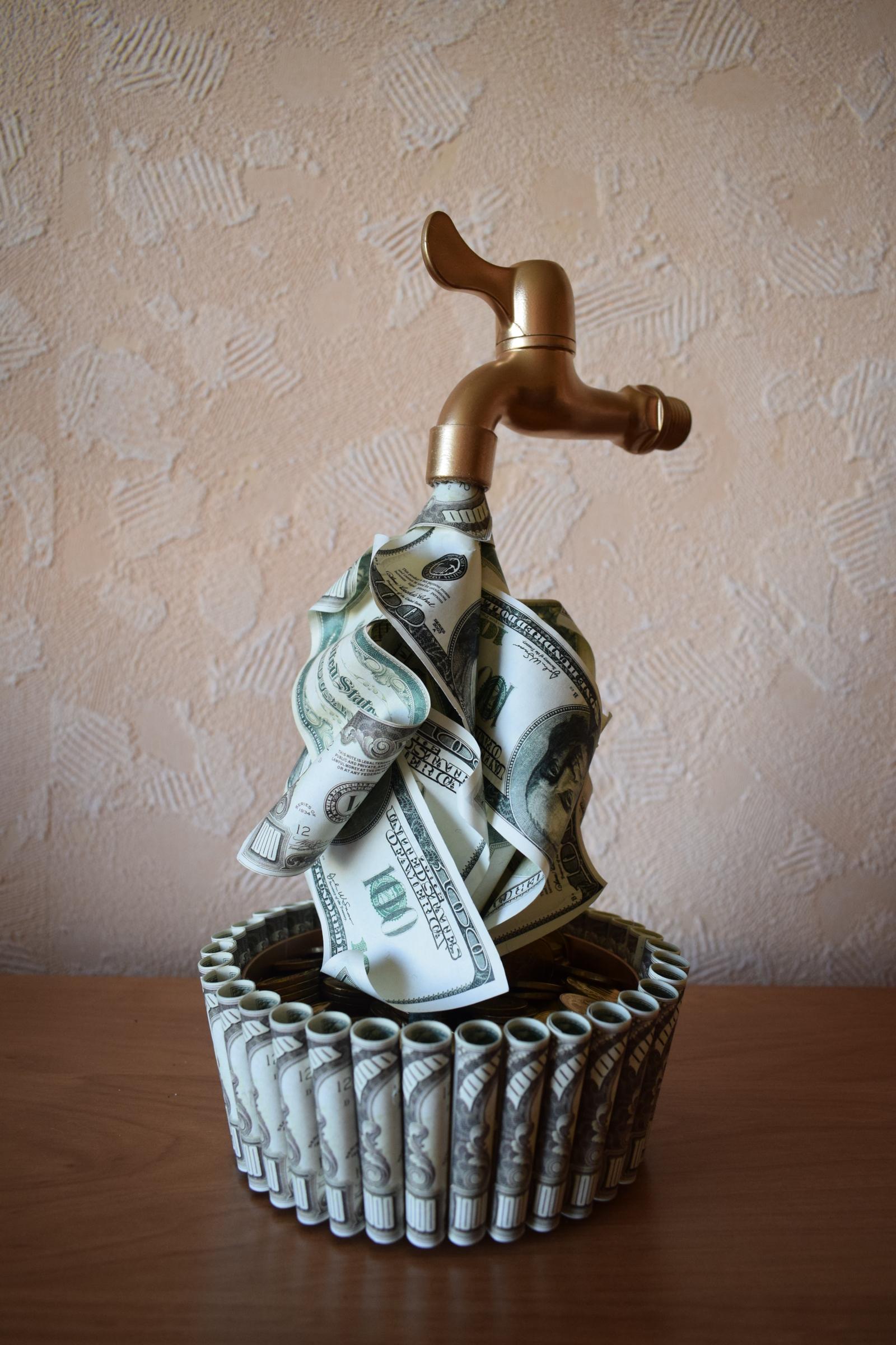Деньги из крана своими руками